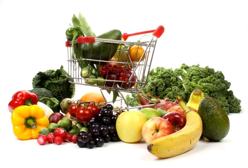Fruits et légumes caddie
