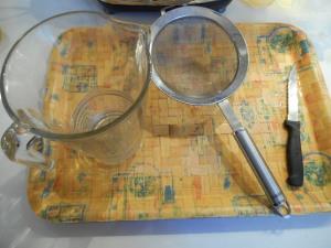 ustensiles pour préparation jus vert
