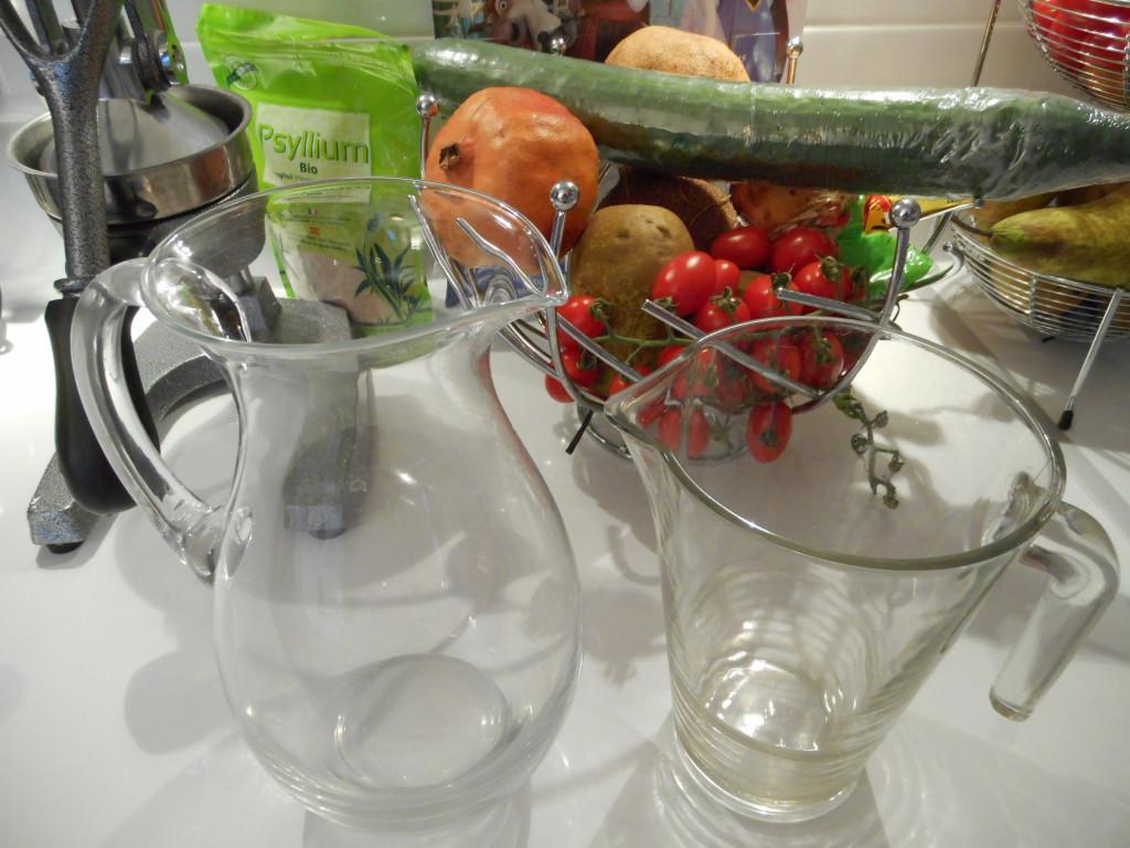 récipients jus de légumes