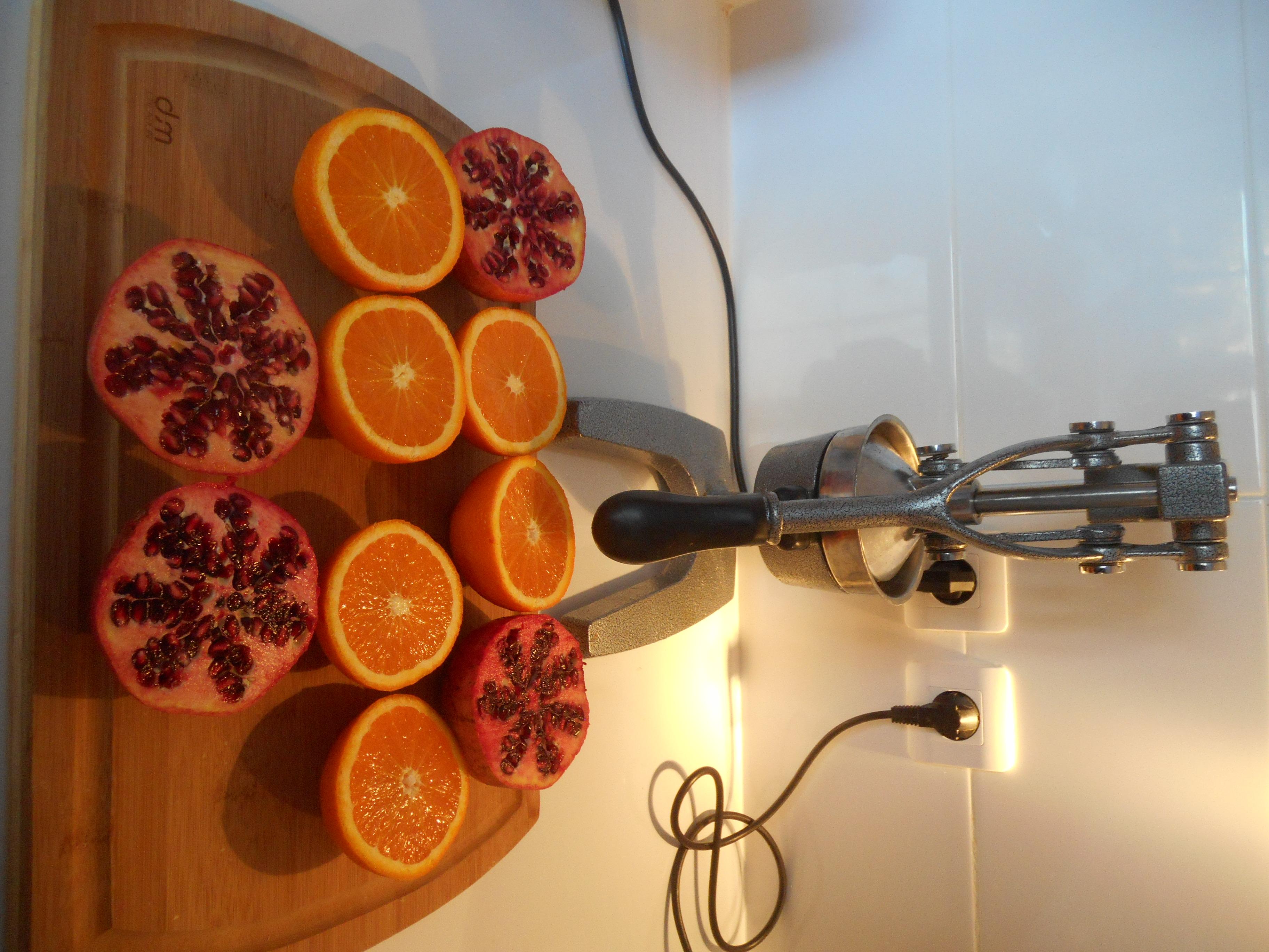 Recette Land : Recette de Jus de grenade orange chaque matin
