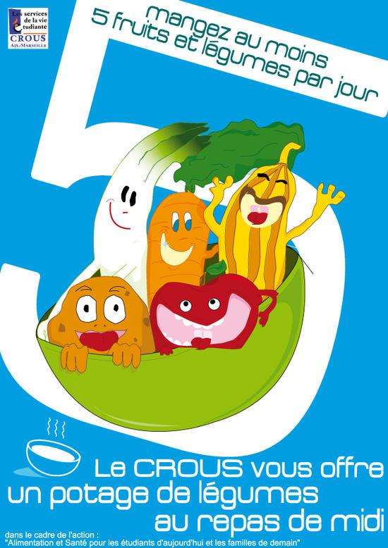 5 fruis et légumes